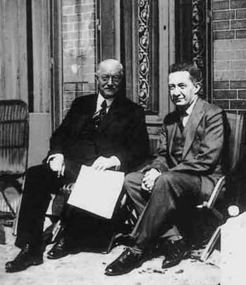 Милюков и Керенский, 1930-е годы