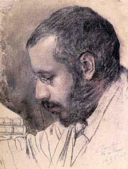 портрет Александра Бенуа работы К.Сомова, 1895