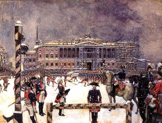 Александр Бенуа, «Парад при Павле I», 1907