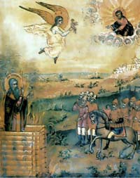 Сожжение протопопа Аввакума, старообрядческая икона
