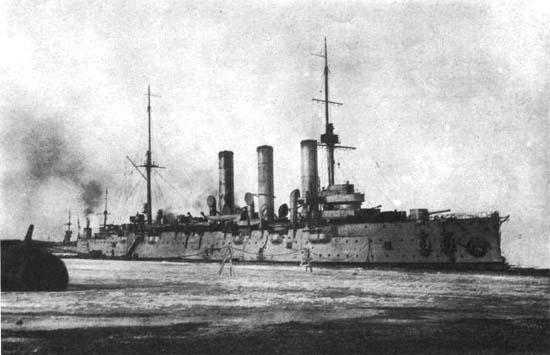 крейсер «Аврора» на зимовке 1916/1917 гг.