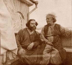 М.А. Волошин с матерью, Е.О. Кириенко-Волошиной, 1919