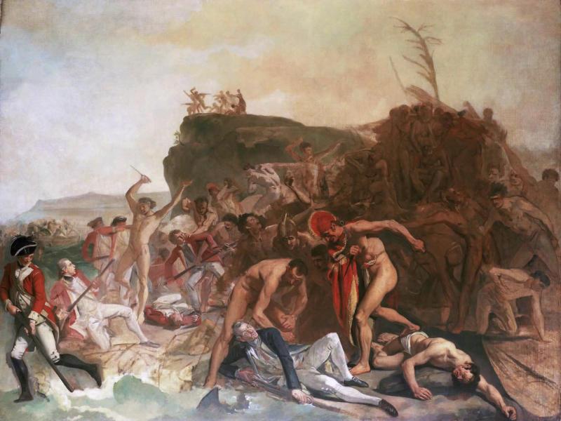 Смерть капитана Джеймса Кука, Йоханн Зоффани, 1795