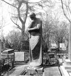 «Мысль», скульптура С. Меркурова, ставшая его надгробием