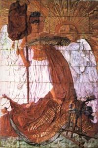 Мемориальная доска на Спасской башне, С. Коненков, 1918