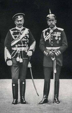 Николай II и его кузен кайзер Вильгельм II