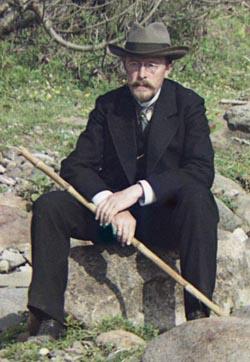 С.М. Прокудин-Горский, автопортрет, 1912