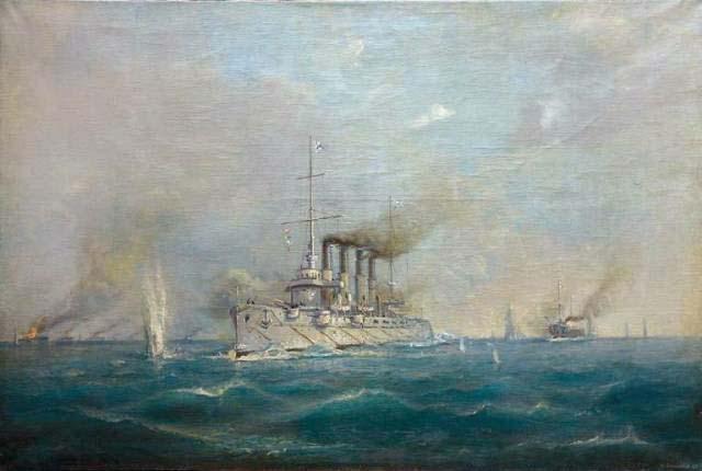 М.М. Степанов, Бой крейсера «Варяг» и канонерной лодки «Кореец» с японской эскадрой