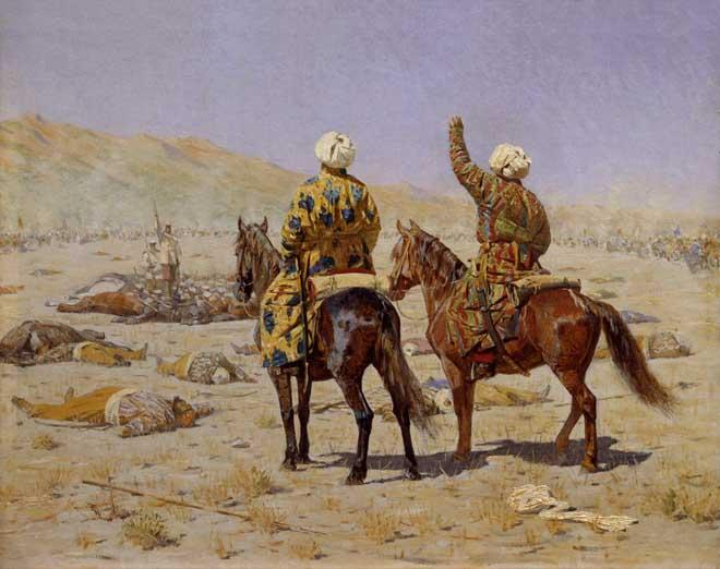 Парламентеры. «Сдавайся» - «Убирайся к черту!», В.В. Верещагин, 1873