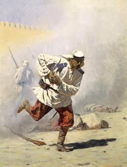 Смертельно раненый, В.В. Верещагин, 1873