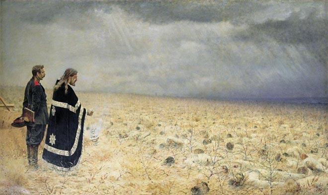 Побежденные. Панихида. В.В. Верещагин, 1878-1879