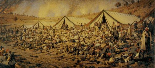 После атаки. Перевязочный пункт под Плевной. В.В. Верещагин, 1881