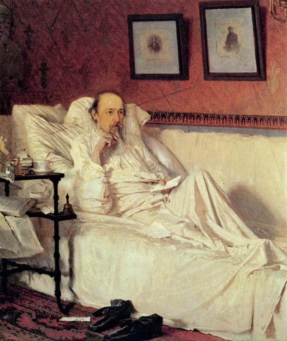 Н.А. Некрасов в период «Последних песен», И.Н. Крамской, 1878