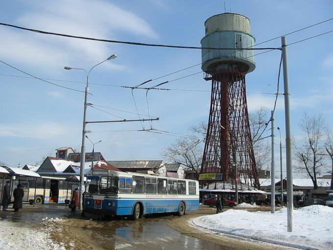 Шуховская водонапорная башня в Подольске, снесена в 2003 г.