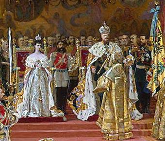 Коронация императора Александра III и императрицы Марии Федоровны. Жорж Беккер.