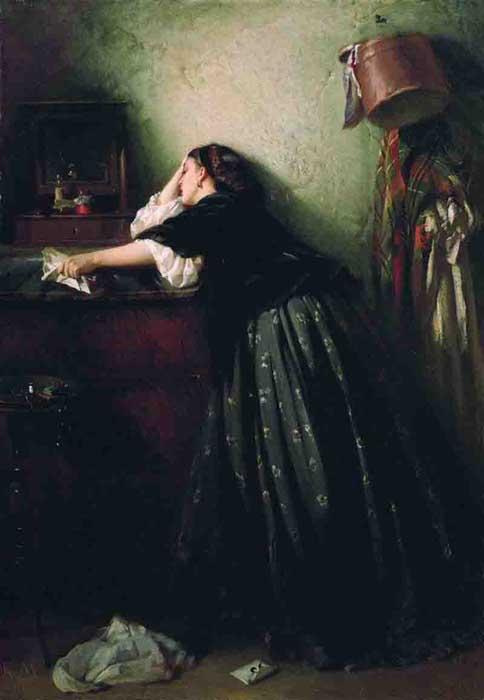 К.Е. Маковский, «Вдовушка», 1865
