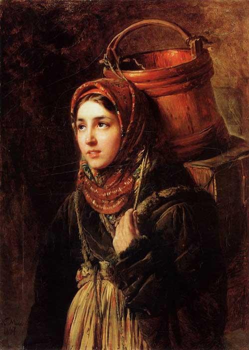 К.Е. Маковский, «Селедочница», 1867