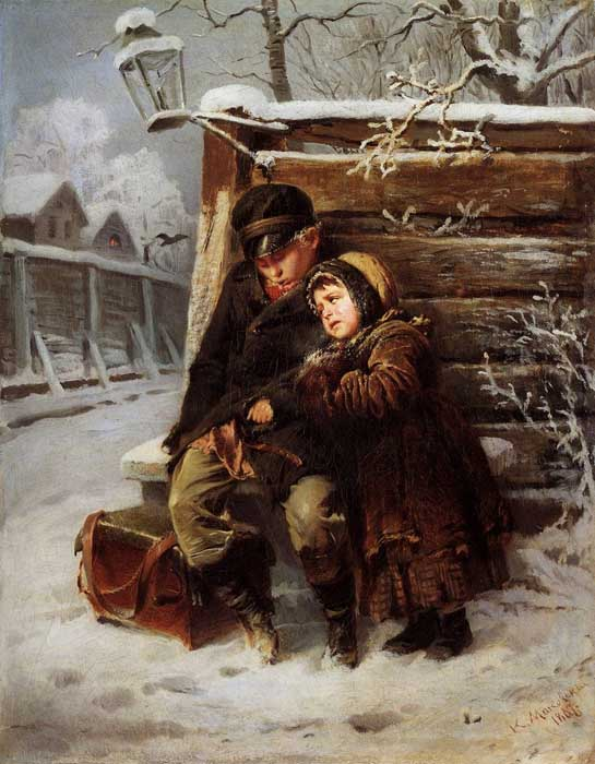 К.Е. Маковский, «Маленькие шарманщики», 1868