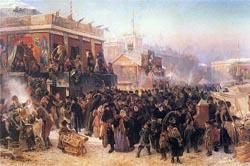 К.Е. Маковский, «Народное гулянье во время Масленицы на Адмиралтейской площади в Петербурге», 1869