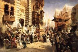 К.Е. Маковский, «Возвращение священного ковра из Мекки в Каир», 1875