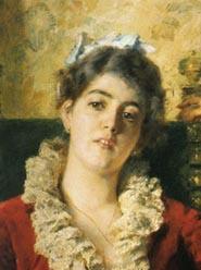К.Е. Маковский, «Портрет Ю.П. Маковской», 1881