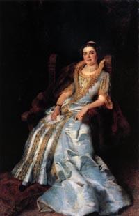 К.Е. Маковский, «Портрет В.А. Морозовой», 1884