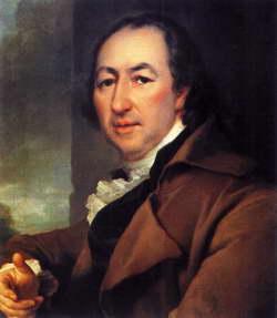 Д. Г. Левицкий. Портрет Н.И. Новикова. Холст, масло. 1797год