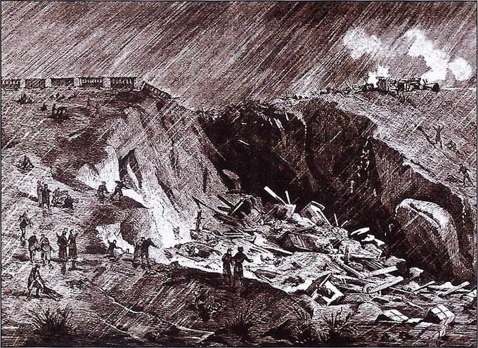 Кукуевская катастрофа. «Всемирная иллюстрация». 1882 год. №30