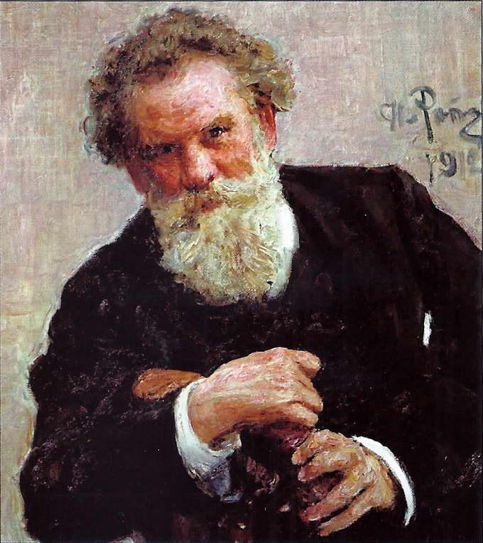 И.Е. Репин. Портрет писателя В.Г. Короленко. 1912 год