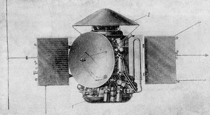 Общий вид станции «Марс-6»