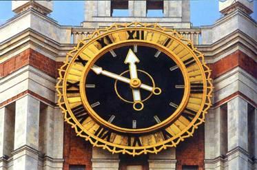 Часы на ГЗ МГУ