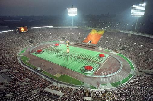Церемония закрытия Олимпиады-80 в Лужниках