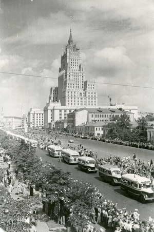 Встреча участников VI Всемирного фестиваля. Москва, 1957 г.