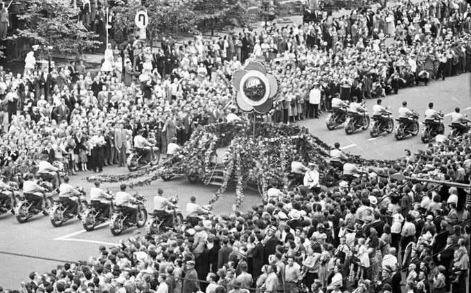 VI Всемирный фестиваль молодежи и студентов, Москва, 1957. Фото Сергея Васина