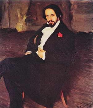 Портрет И. Я. Билибина (Б. Кустодиев, 1901)