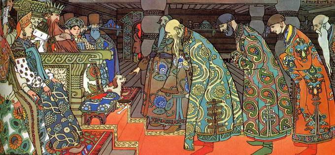 Иллюстрация Билибина к сказке