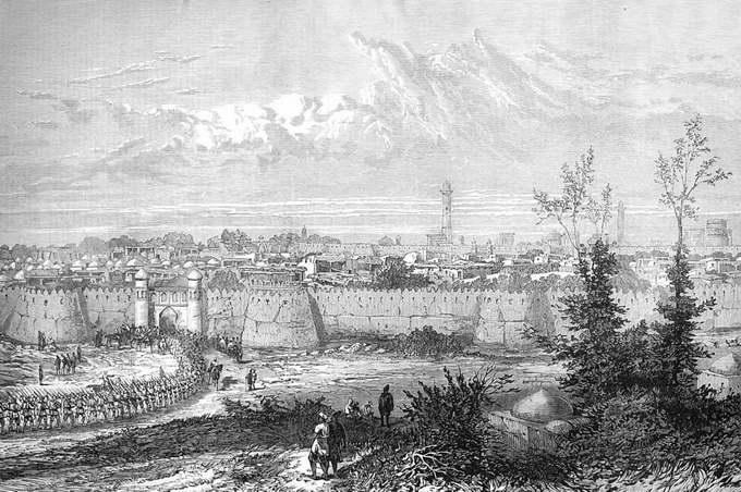 Русские войска входят в Хиву, 1873
