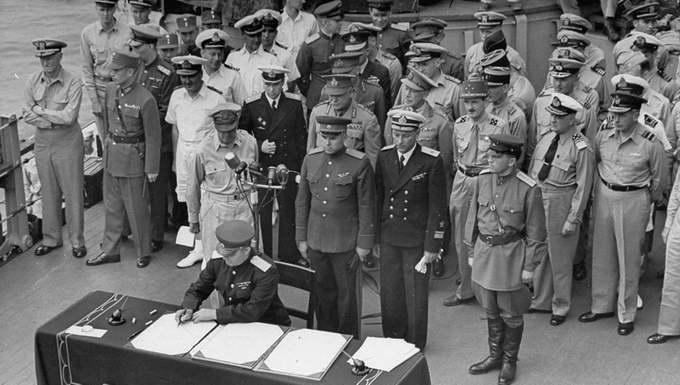 Подписание Акта о капитуляции Японии