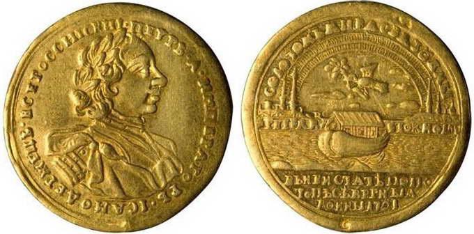 «На Ништатский мир». Офицерская медаль для участников Северной войны, 1721 год