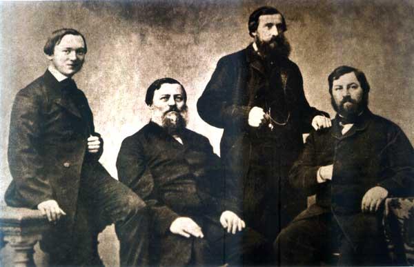 Представители четырех ветвей Морозовых, фото 1870-х годов